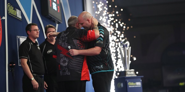 Rob Cross & Phil Taylor (Lawrence Lustig, PDC)