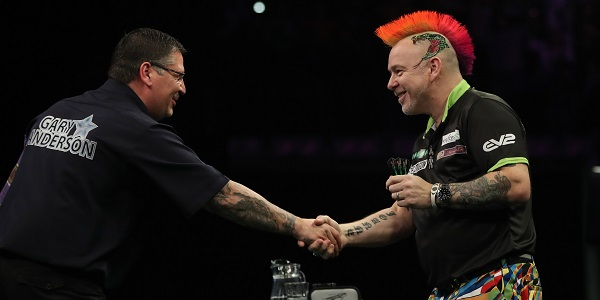 Gary Anderson & Peter Wright - Unibet Premier League, Berlin (Lawrence Lustig, PDC)