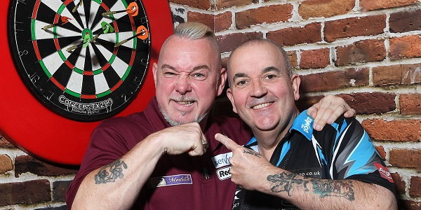 Peter Wright & Phil Taylor (Photosport, PDC)