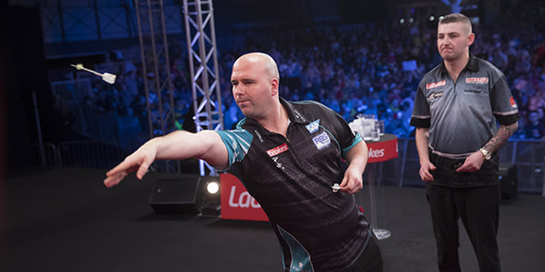 Rob Cross, Nathan Aspinall (Lawrence Lustig, PDC)