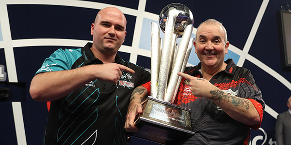 Rob Cross, Phil Taylor (Lawrence Lustig, PDC)