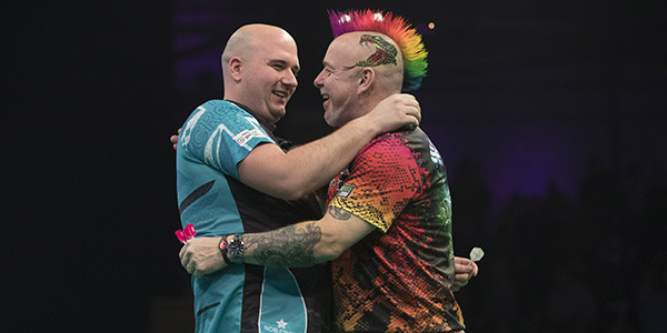 Rob Cross, Peter Wright (Lawrence Lustig, PDC)