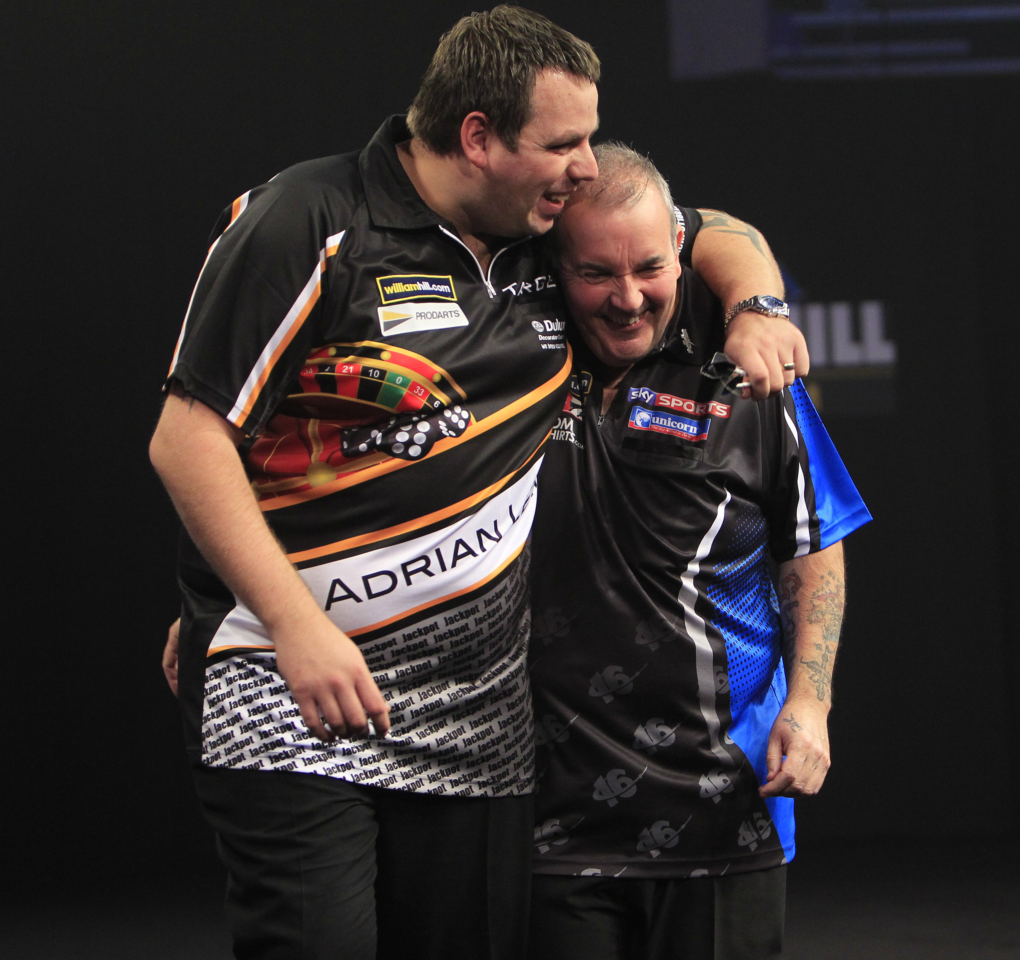 Adrian Lewis, Phil Taylor (Lawrence Lustig, PDC)
