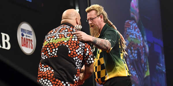 Kyle Anderson & Simon Whitlock - Auckland Darts Masters, presented by TAB & Burger King (Photosport, PDC)