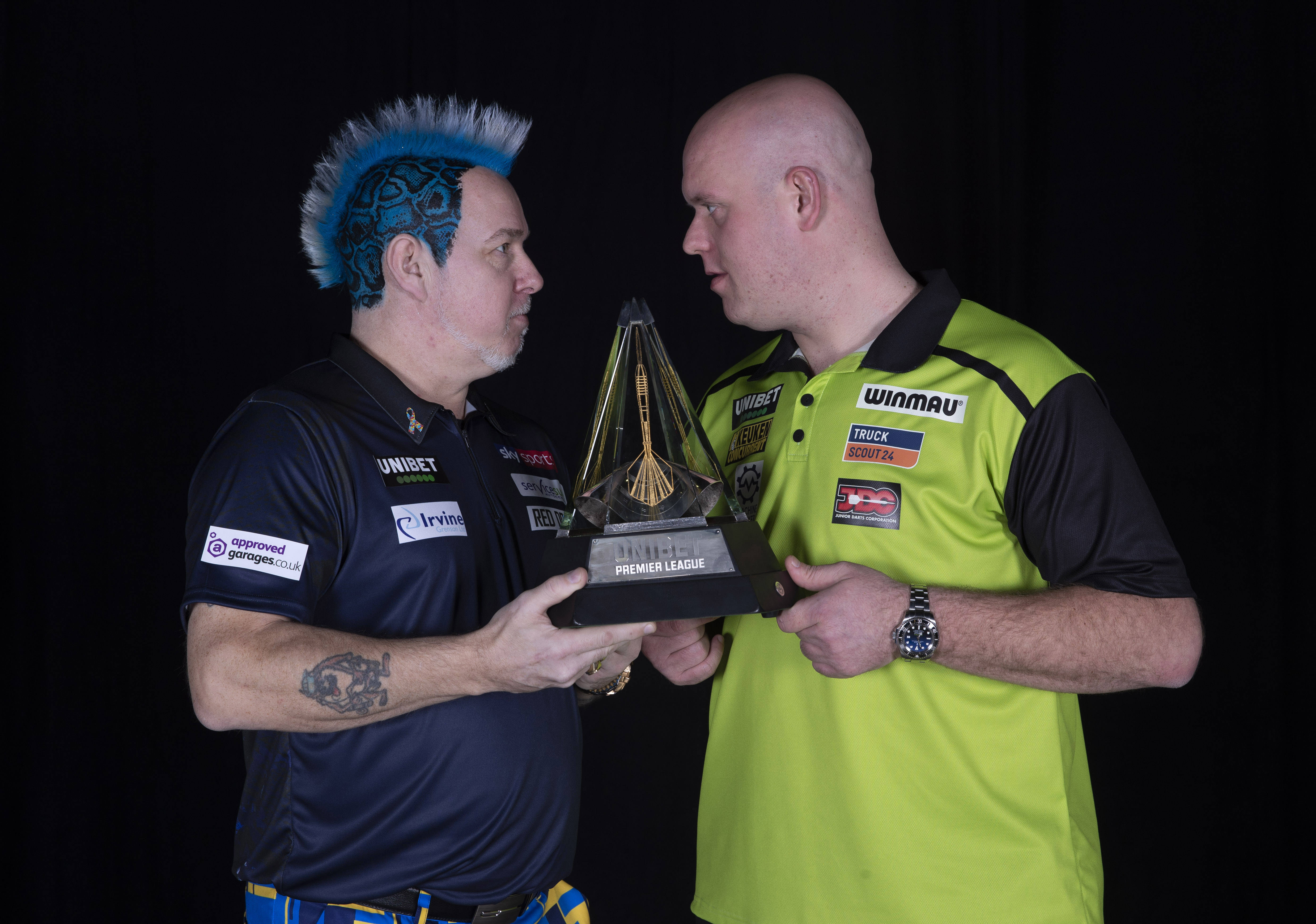 Peter Wright, Michael van Gerwen (Lawrence Lustig, PDC)