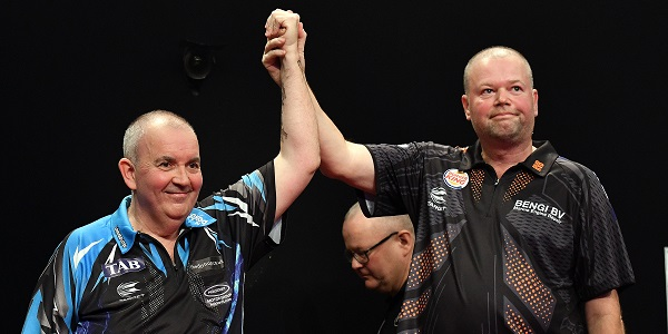 Phil Taylor & Raymond van Barneveld - Auckland Darts Masters, presented by TAB & Burger King (Photosport, PDC)