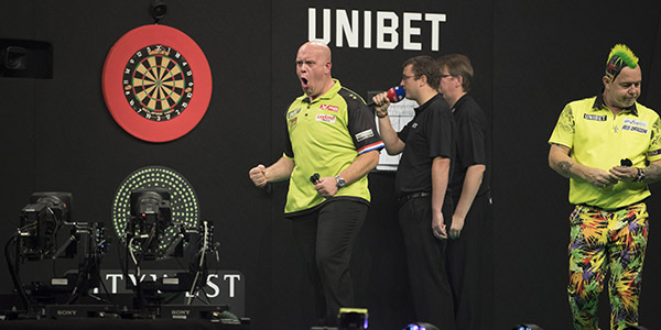 Michael van Gerwen, Peter Wright (Lawrence Lustig, PDC)