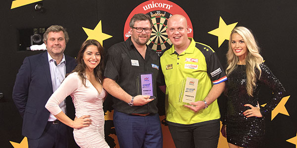 Michael van Gerwen, James Wade (Kais Bodensieck, PDC Europe)