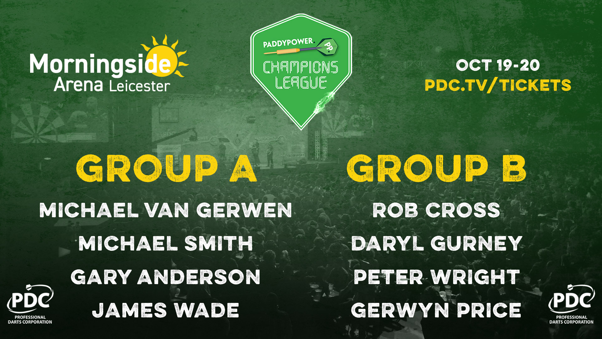 Champions League of Darts groups (PDC)