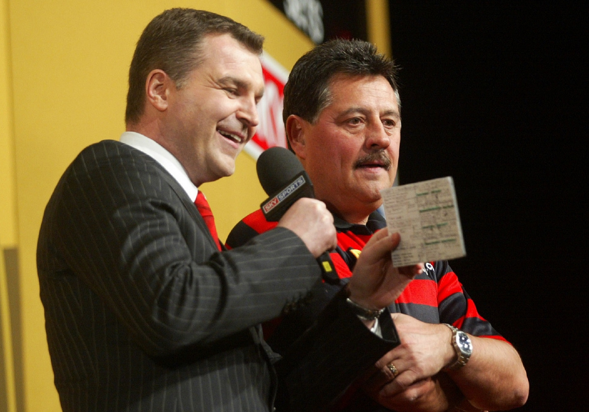 Dave Clark with Dennis Priestley