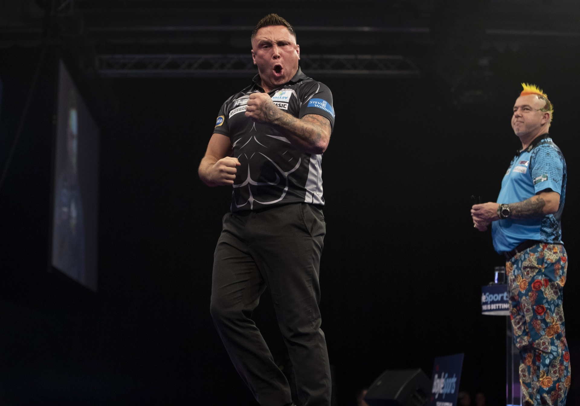 Gerwyn Price, Peter Wright (Lawrence Lustig, PDC)