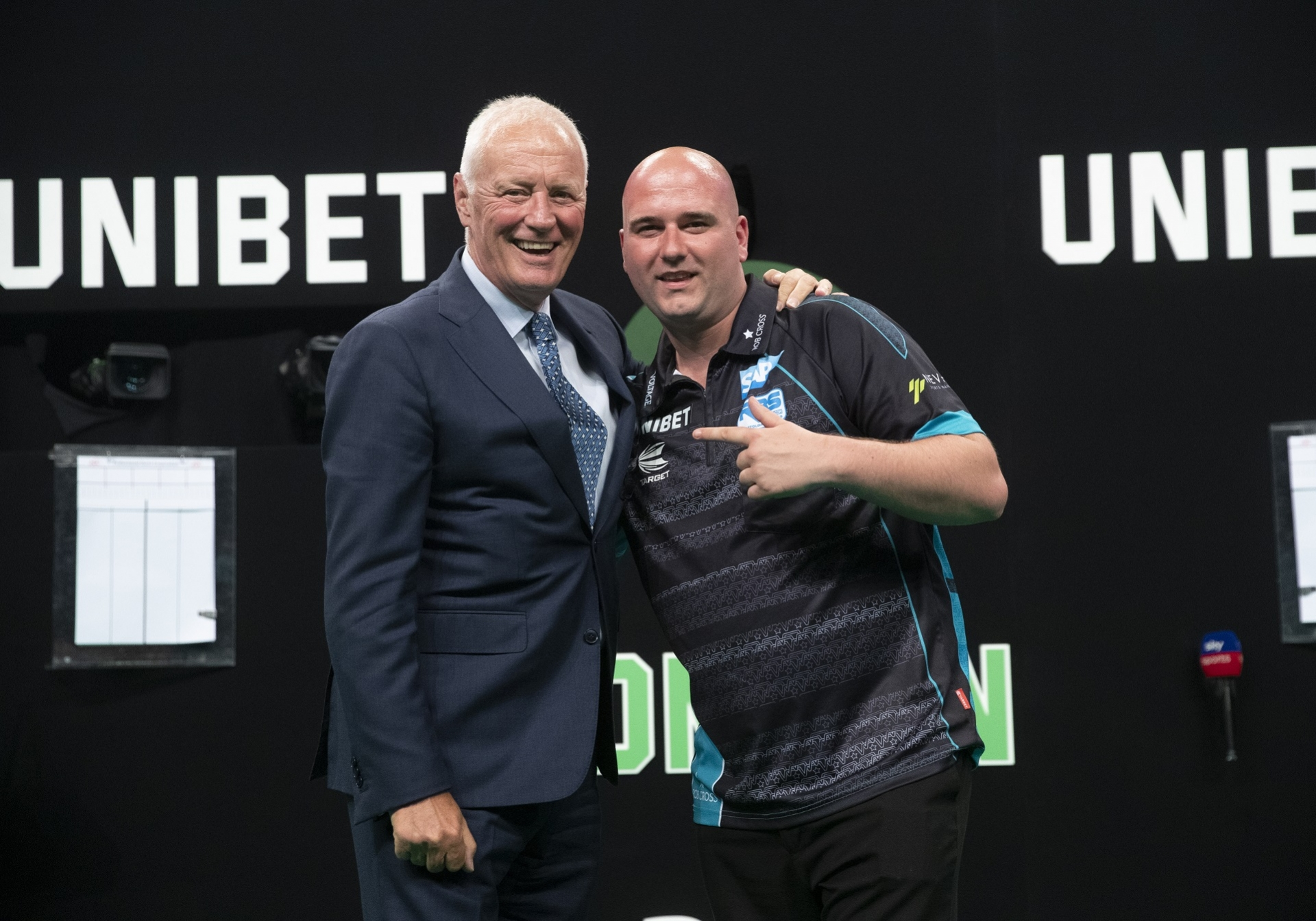 Rob Cross with Barry Hearn