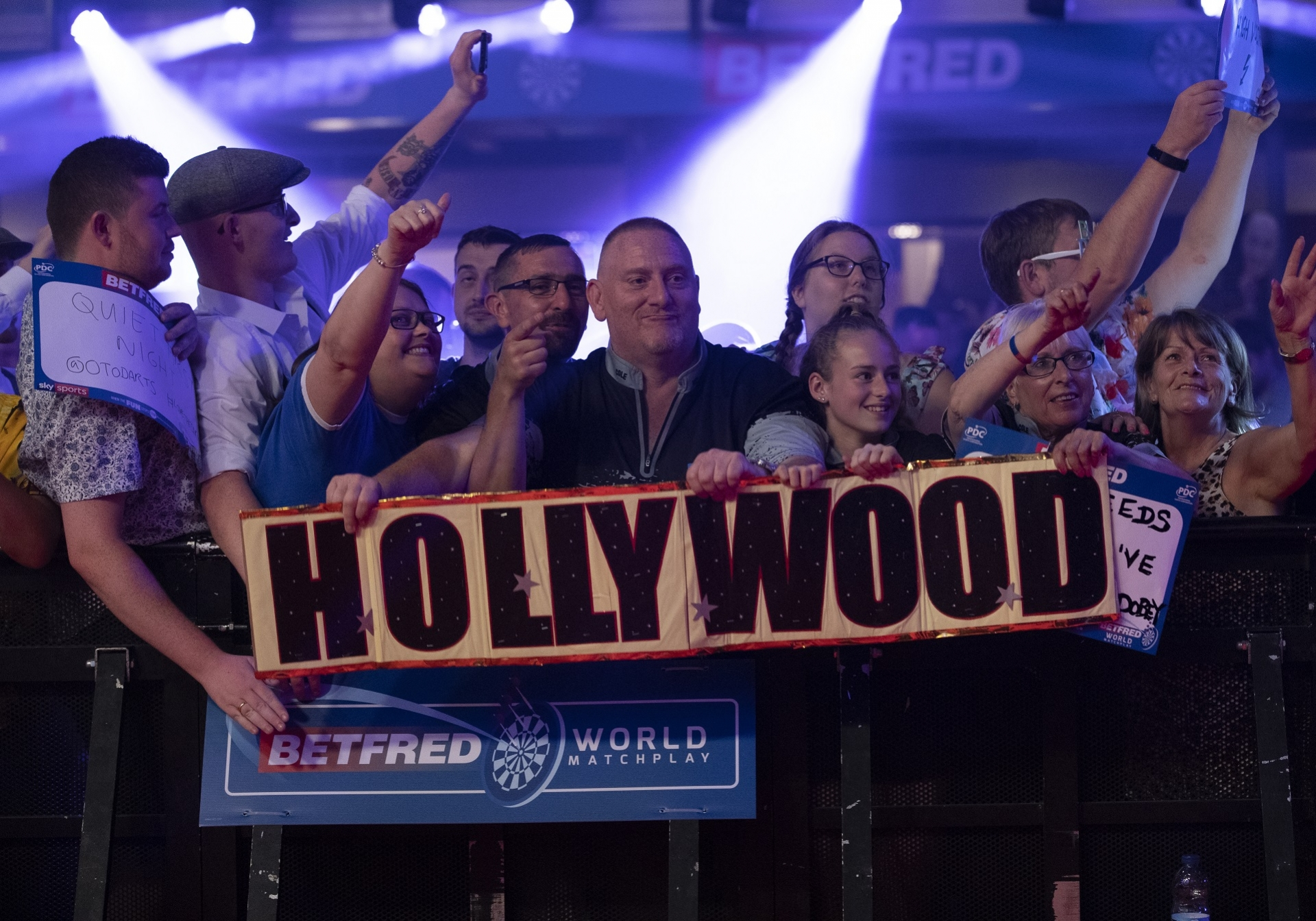 Fans at the Betfred World Matchplay