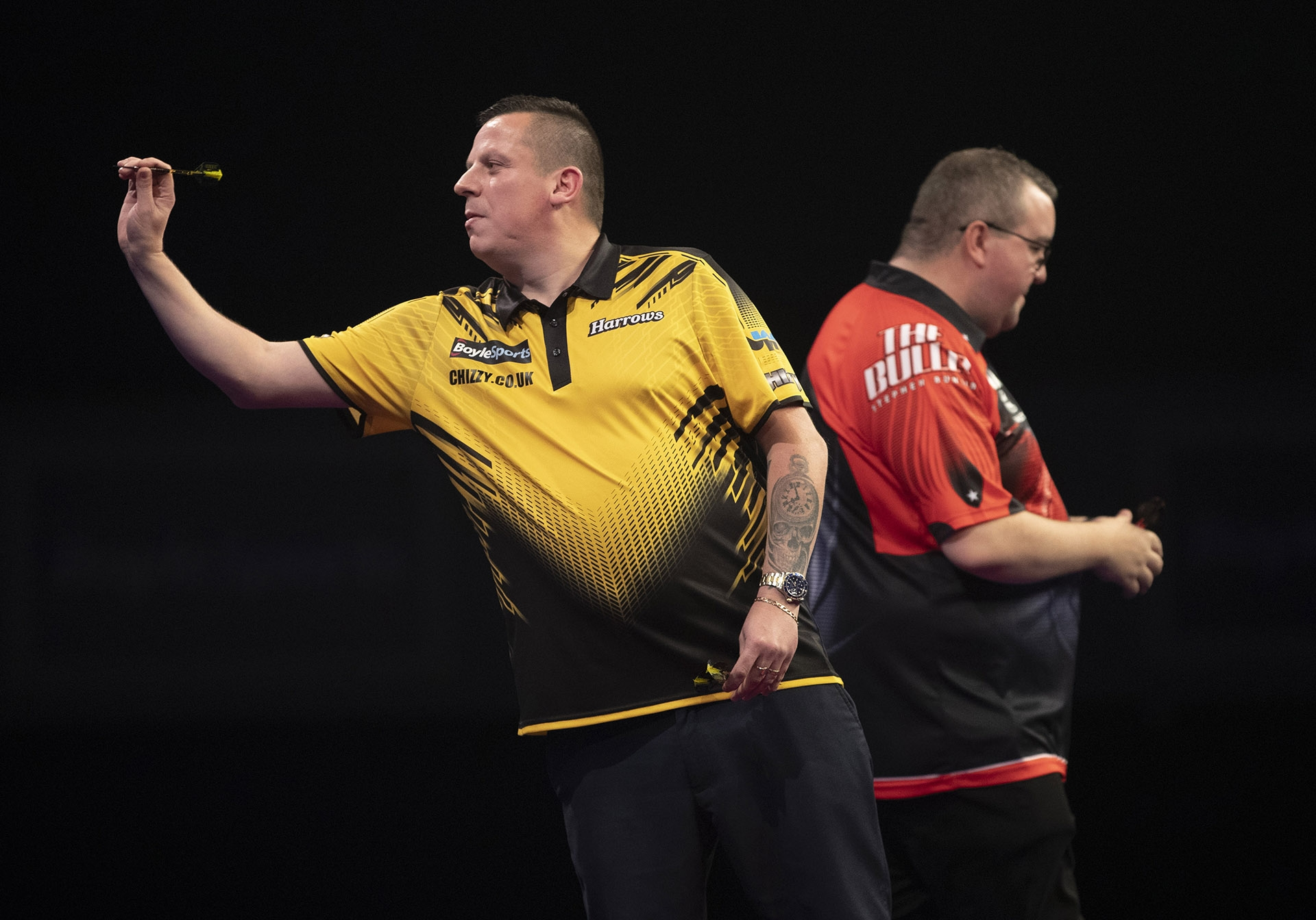 Dave Chisnall, Stephen Bunting (Lawrence Lustig, PDC)
