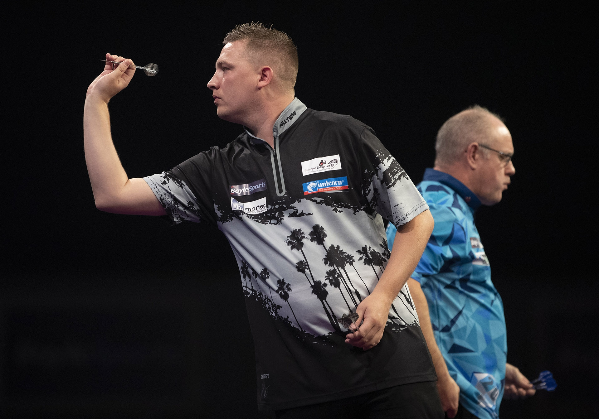 Chris Dobey, Ian White (Lawrence Lustig, PDC)