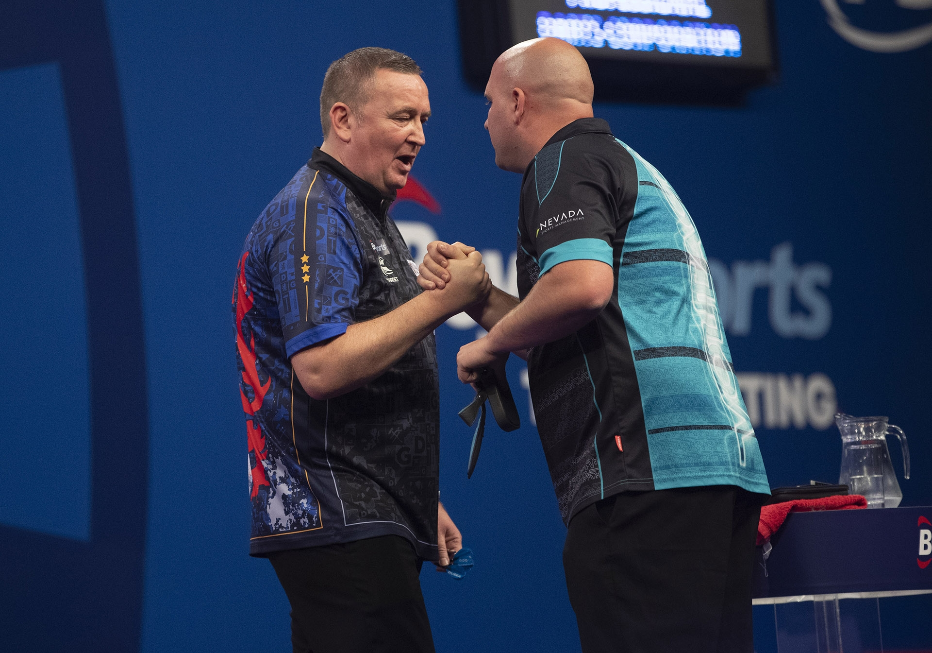 Glen Durrant, Rob Cross (Lawrence Lustig, PDC)
