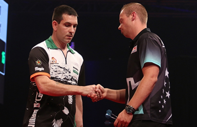 William O'Connor &. Max Hopp (Tobias Wenzel/PDC Europe)