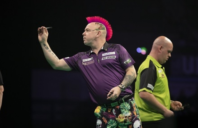 Peter Wright & Michael van Gerwen (Lawrence Lustig, PDC)