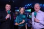 ITV presenter Jacqui Oatley with Chris Mason & Alan Warriner-Little (Lawrence Lustig, PDC)