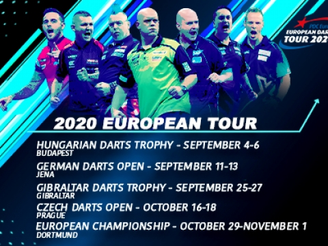 2020 European Tour dates