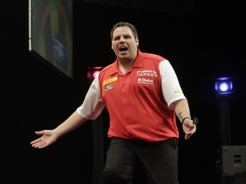 England's Adrian Lewis - 2012 World Cup of Darts (Lawrence Lustig, PDC)