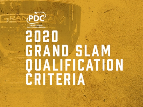 Grand Slam of Darts qualification criteria