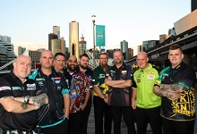 Melbourne Darts Masters players group shot (PDC)