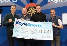 BoyleSports charity donation (Lawrence Lustig, PDC)