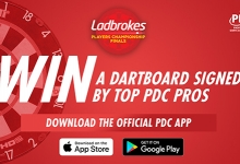 Win a signed dartboard (PDC)